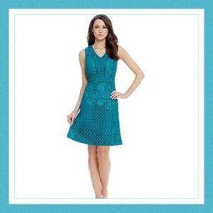 Antonio Melani Harbor Mist Lace Dress Size 12